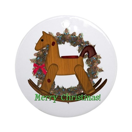 Rocking Horse Ornament (Round)