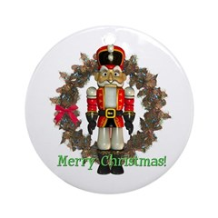 Nutcracker (Red) Ornament (Round)
