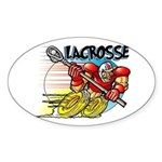 Lacrosse on Wheels Oval Sticker
