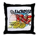 Lacrosse on Wheels Throw Pillow