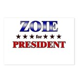 ZOIE for president Postcards (Package of 8)