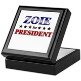 ZOIE for president Keepsake Box