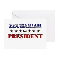 ZECHARIAH for president Greeting Card