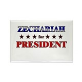 ZECHARIAH for president Rectangle Magnet (10 pack)