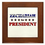 ZECHARIAH for president Framed Tile