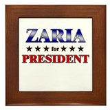 ZARIA for president Framed Tile