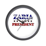 ZARIA for president Wall Clock