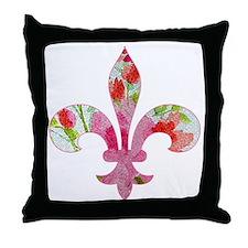 Floral Fleur de lis (2) Throw Pillow