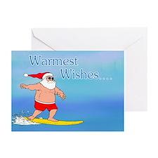 Surfing Santa Greeting Cards (Pk of 20)
