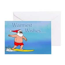 Surfing Santa Greeting Card