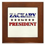 ZACKARY for president Framed Tile