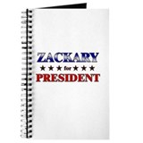 ZACKARY for president Journal