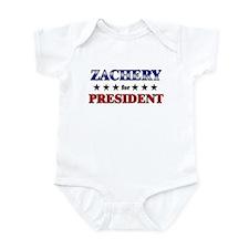 ZACHERY for president Infant Bodysuit