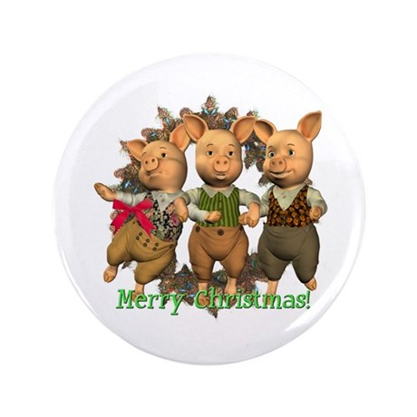 "The Three Little Pigs 3.5"" Button"