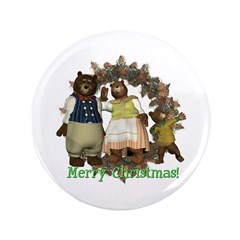 "The Three Bears 3.5"" Button"