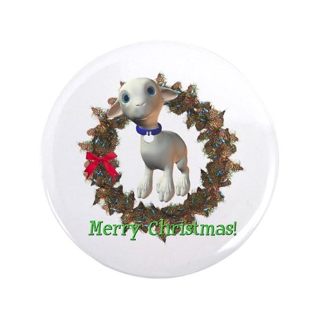 "Lamb 3.5"" Button"
