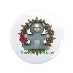 "Teddy Bear 3.5"" Button"