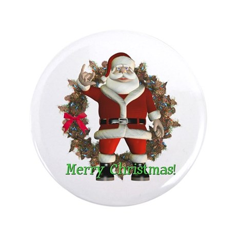 Santa 3.5&quot; Button