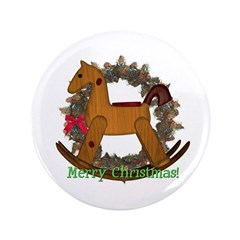 "Rocking Horse 3.5"" Button"