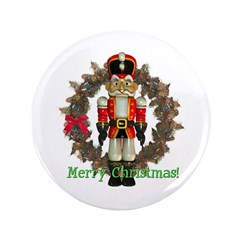 "Nutcracker (Red) 3.5"" Button"