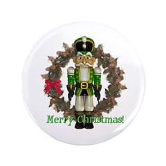 "Nutcracker (Green) 3.5"" Button"