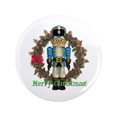 Nutcracker (Blue) 3.5&quot; Button