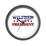 WILFRED for president Wall Clock