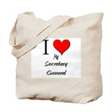 I Love My Secretary General Tote Bag