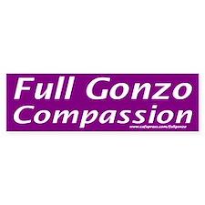 Full Gonzo Compassion Bumper Bumper Sticker