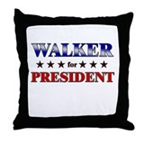 WALKER for president Throw Pillow