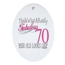 70th Birthday Gifts Oval Ornament