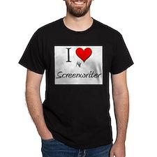 I Love My Screenwriter T-Shirt