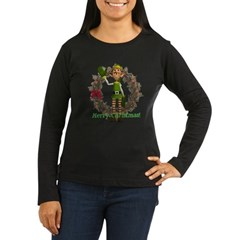 Elf Women's Long Sleeve Dark T-Shirt