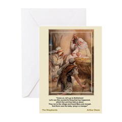 Shepherds Worship-Dixon-Christmas Cards (Pk of 10)