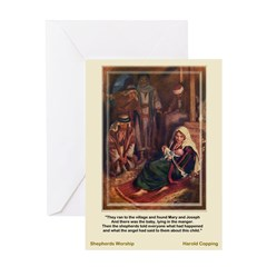 The Shepherds Worship-Copping-Christmas Card