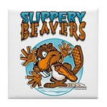 Slippery Beaver Tile Coaster
