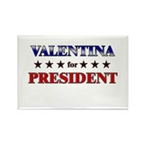 VALENTINA for president Rectangle Magnet (10 pack)