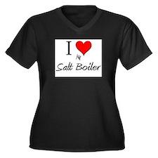 I Love My Salt Boiler Women's Plus Size V-Neck Dar