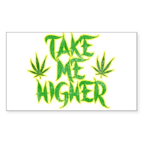 Take Me Higher (Vintage) Rectangle Sticker