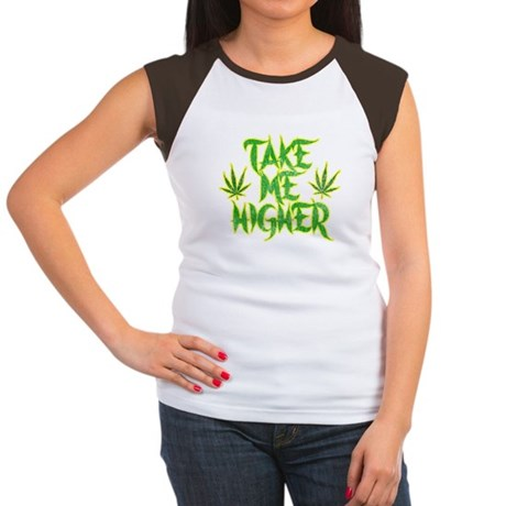 Take Me Higher (Vintage) Womens Cap Sleeve T-Shir
