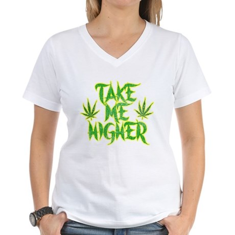 Take Me Higher (Vintage) Womens V-Neck T-Shirt