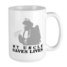 Firefighter Uncle Saves Lives Mug