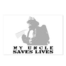 Firefighter Uncle Saves Lives Postcards (Package o