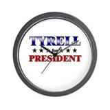 TYRELL for president Wall Clock