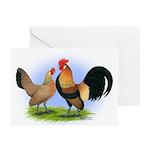 LT Brown Dutch Pair Greeting Cards (Pk of 20)