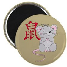 "Rat with Character 2.25"" Magnet (10 pack)"