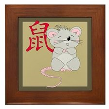 Rat with Character Framed Tile