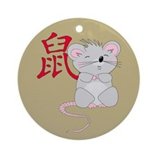 Rat with Character Ornament (Round)