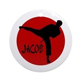 Jacob Karate Ornament (Round)