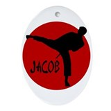 Jacob Karate Oval Ornament